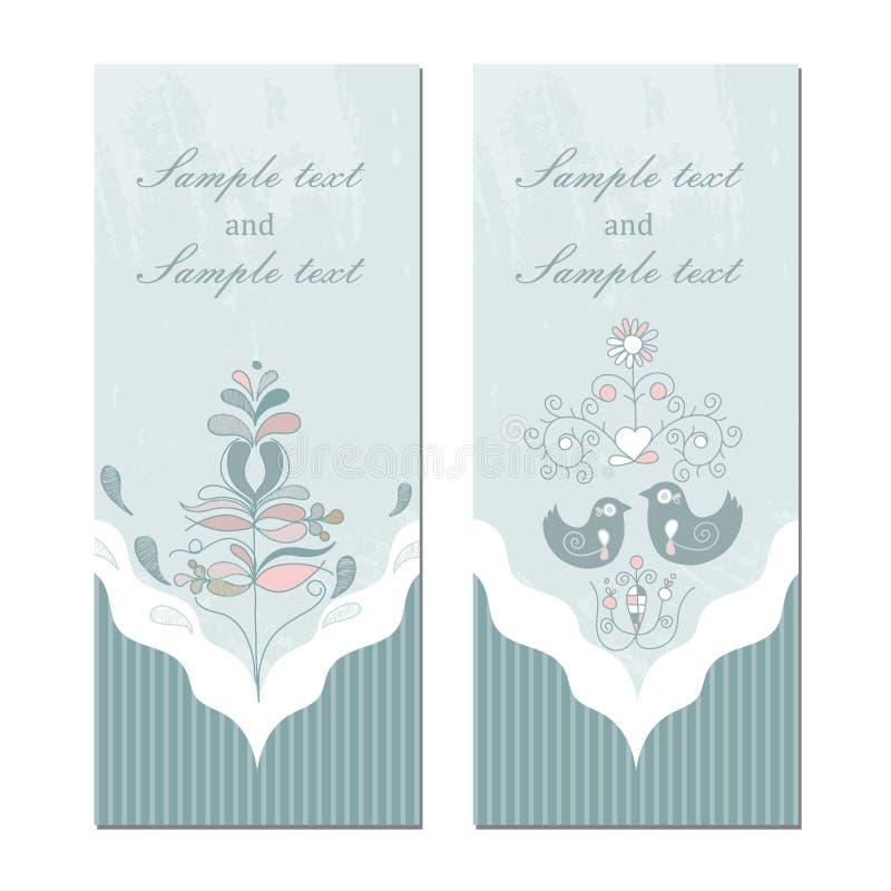 Wektorowego rocznika ślubny zaproszenie ilustracji