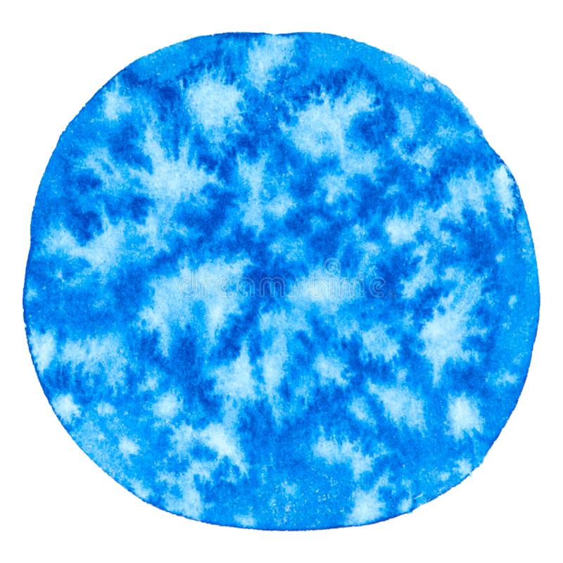 Wektorowego round farby błękitna tekstura odizolowywająca na bielu dla Twój projekta royalty ilustracja
