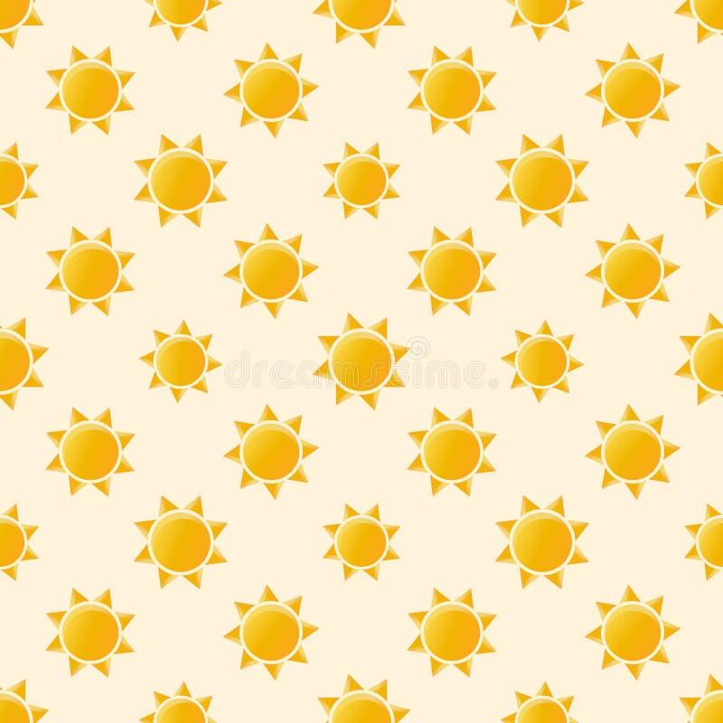 Wektorowego słońca bezszwowy wzór ilustracji