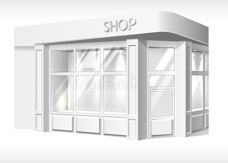 Wektorowego sklepu przodu zewnętrznego mockup realistyczny biel royalty ilustracja