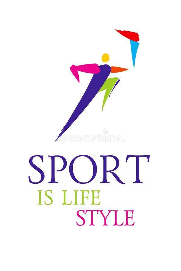 Wektorowego sporta kija kolorowa postać ilustracja wektor