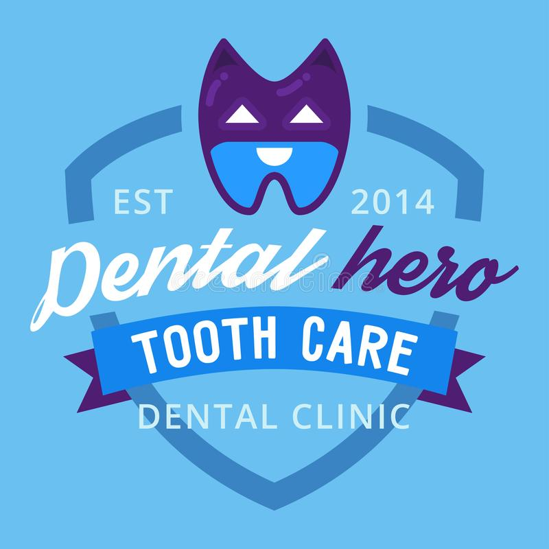 Wektorowego stomatologicznego logo ochrony szablonu stomatology ilustracyjnego usta graficzny oralny element royalty ilustracja