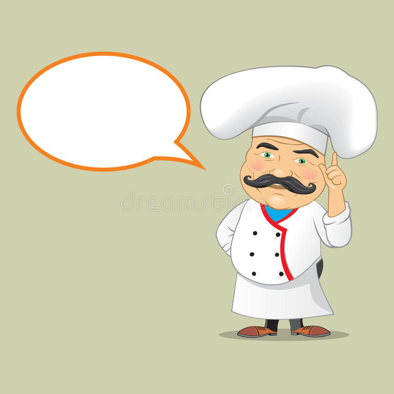 Wektorowego szefa kuchni Cook porci postać z kreskówki Karmowego Realistycznego projekta Odosobniony Wektorowy ilustrator ilustracja wektor