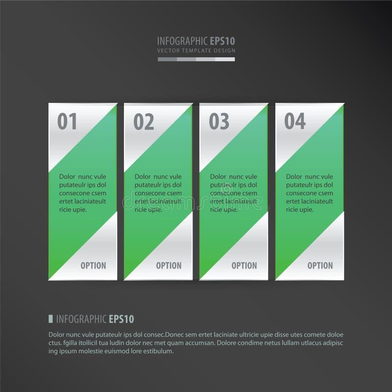 Wektorowego sztandaru neonowa zieleń royalty ilustracja