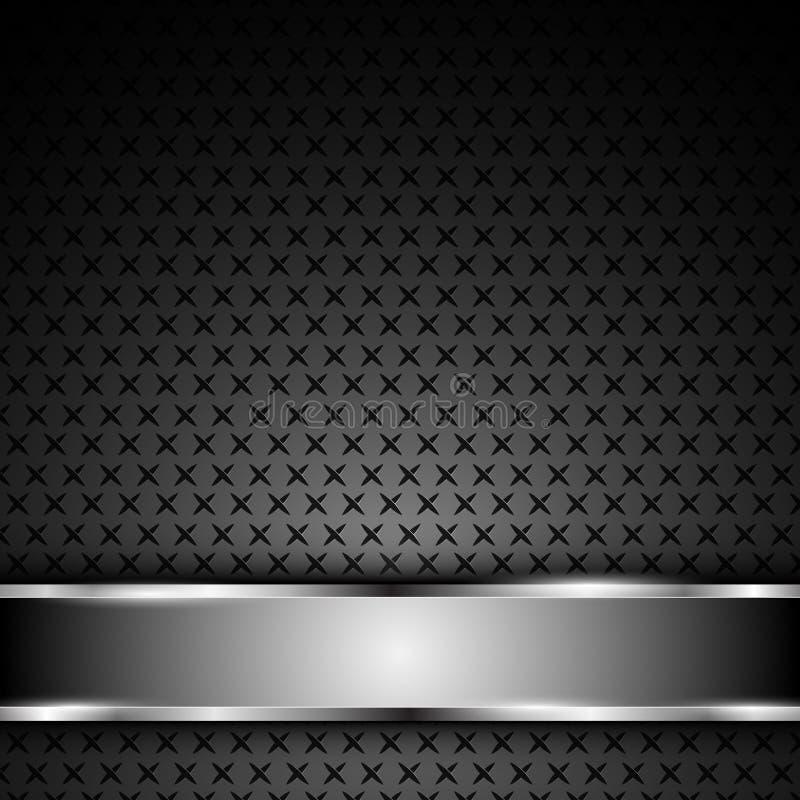 Wektorowego tła tekstury chromium stalowy bar ilustracji