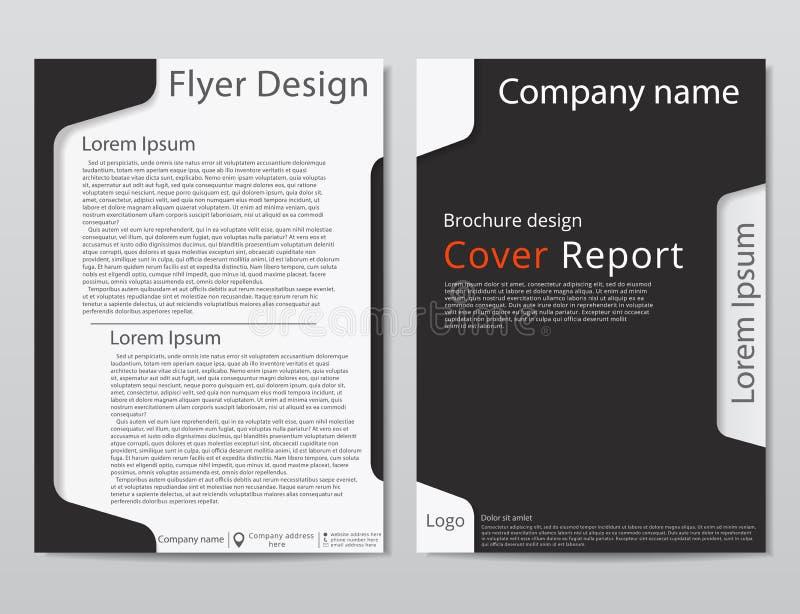 Wektorowego ulotki broszurki projekta szablonu geometryczny abstrakt A4 rozmiar royalty ilustracja