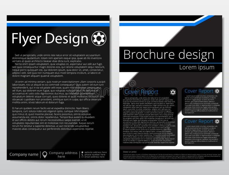 Wektorowego ulotki broszurki projekta szablonu geometryczny abstrakt A4 rozmiar ilustracji