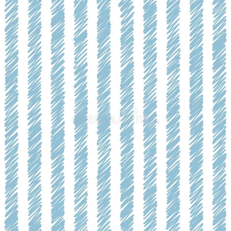 Wektorowego vertical pasiasty bezszwowy wzór ilustracji