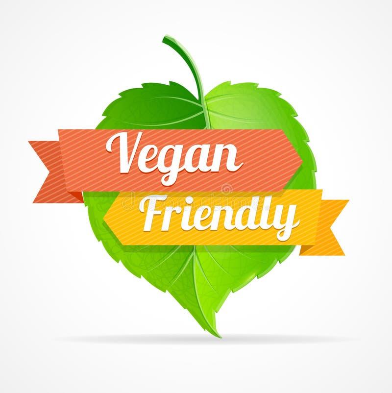Wektorowego weganinu życzliwa etykietka ilustracja wektor
