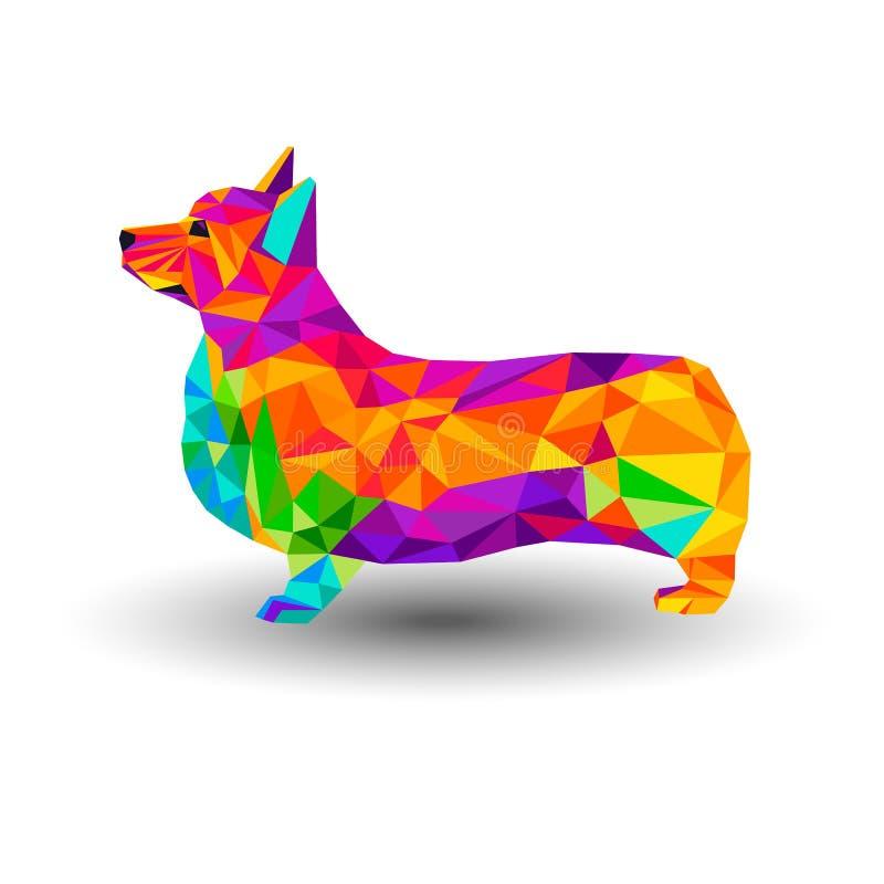 Wektorowego Welsh psa zwierzęcy ilustracyjny zwierzę domowe royalty ilustracja