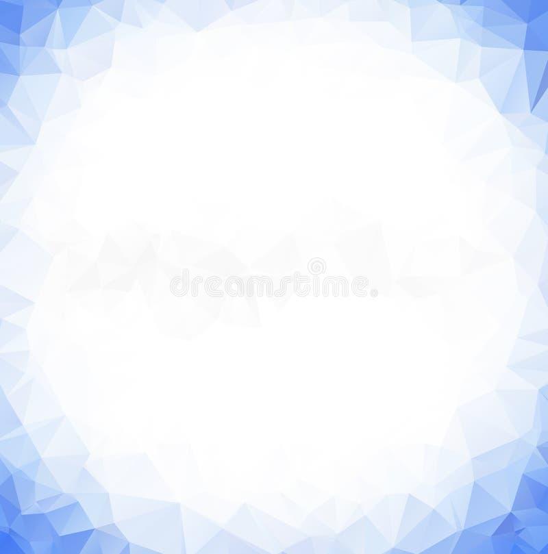 Wektorowego wieloboka trójboka Abstrakcjonistyczny nowożytny Poligonalny Geometryczny tło Błękita trójboka Lekki Geometryczny tło ilustracja wektor