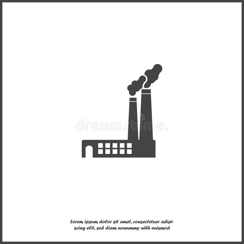 Wektorowego wizerunku fabryczna ikona na białym odosobnionym tle ilustracja wektor
