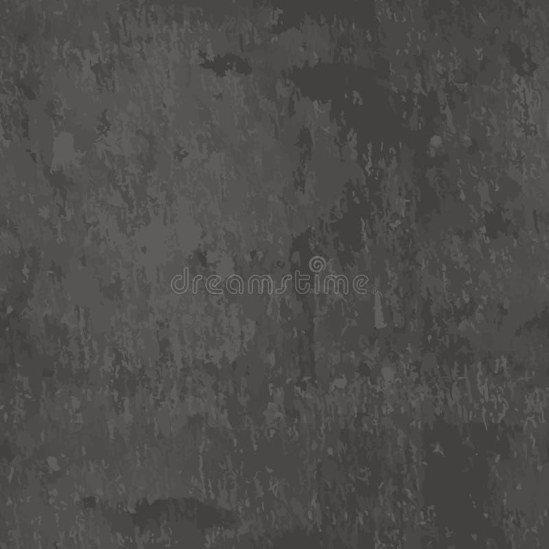 Wektorowego zmroku popielata łupkowa bezszwowa tekstura Abstrakcjonistyczny czerń kamienia tło pusta tablica royalty ilustracja
