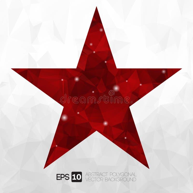 Wektorowej abstrakt gwiazdy poligonalny tło royalty ilustracja