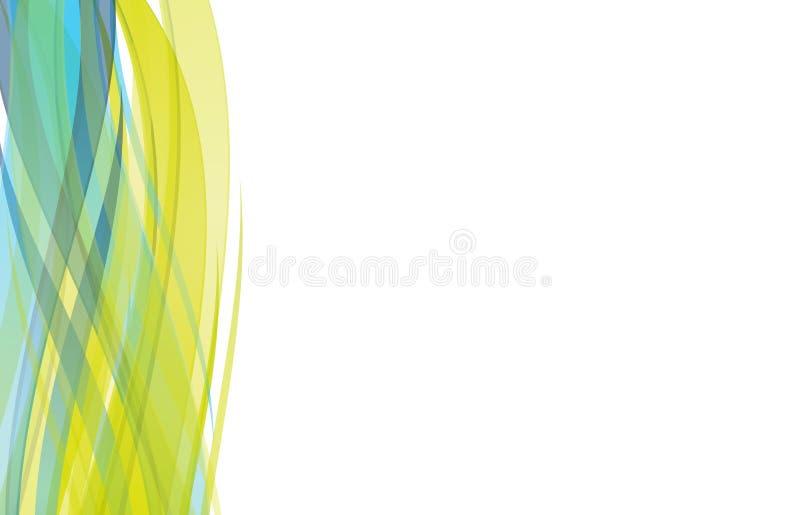 Wektorowej abstrakt zieleni błękitny i żółty falisty tło, tapeta dla jakaś projekta ilustracja wektor