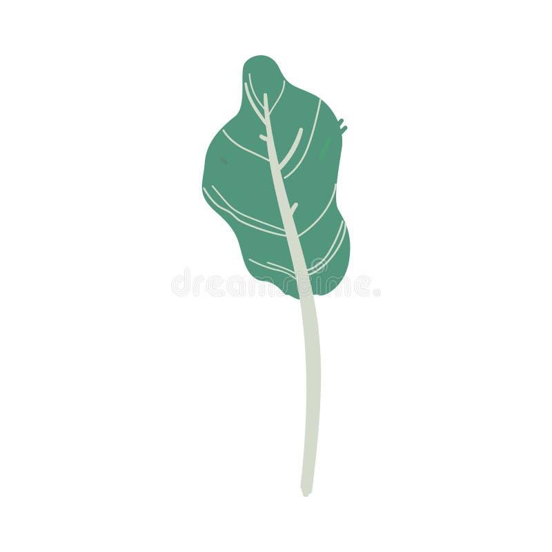 Wektorowej abstrakt zieleni rośliny kreskówki drzewna ikona ilustracji