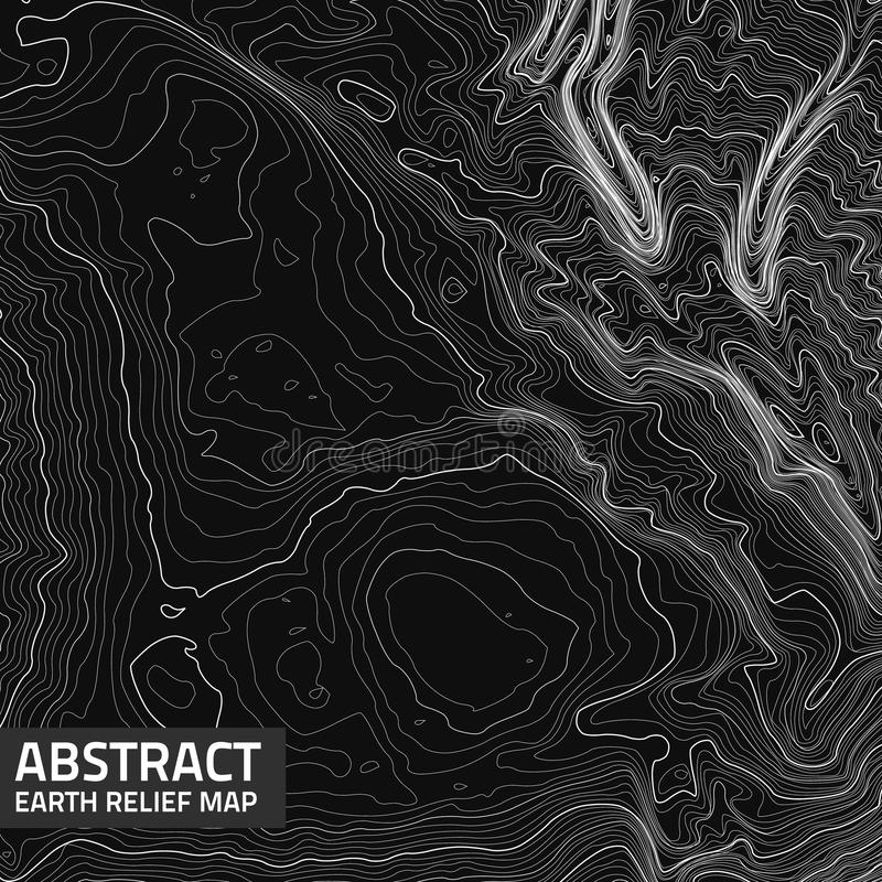 Wektorowej abstrakt ziemi reliefowa mapa ilustracji