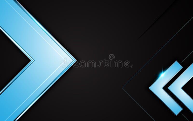 Wektorowej błękit ramy węgla projekta tła układu kruszcowy czarny pojęcie royalty ilustracja