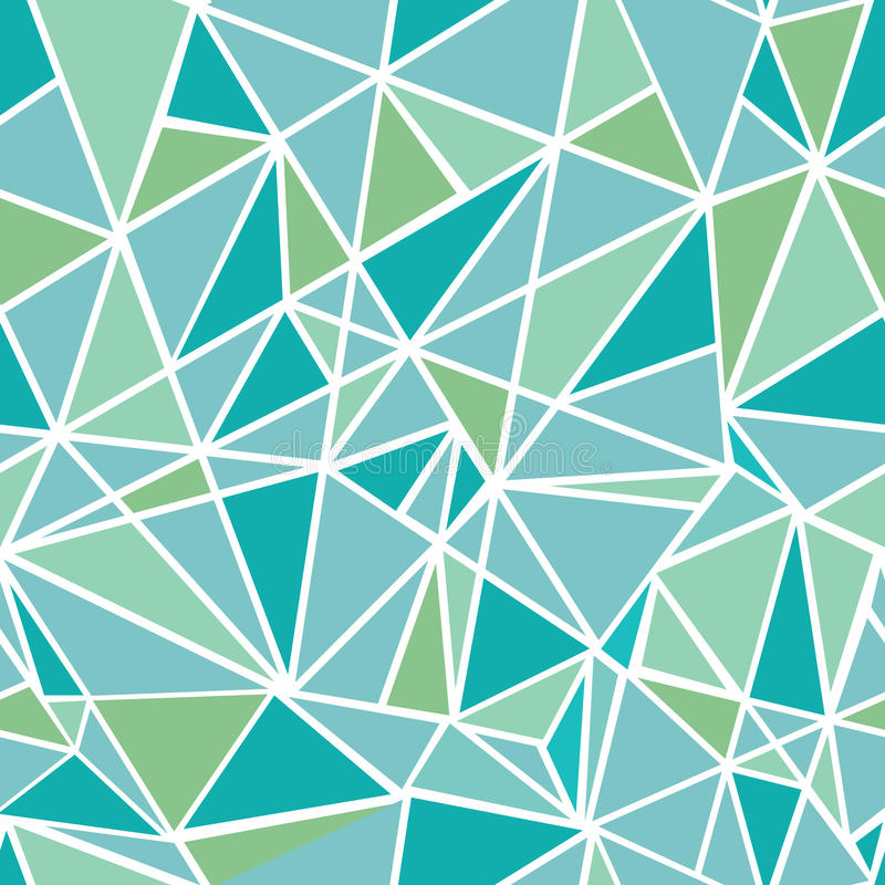 Wektorowej Błękitnej zieleni mozaiki trójboków Geometrycznej powtórki Bezszwowy Deseniowy tło Może Używać Dla tkaniny, tapeta ilustracja wektor