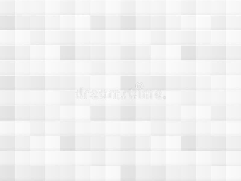 Wektorowej biel płytki Bezszwowy wzór, tekstura szablon, Abstarct tło ilustracja wektor