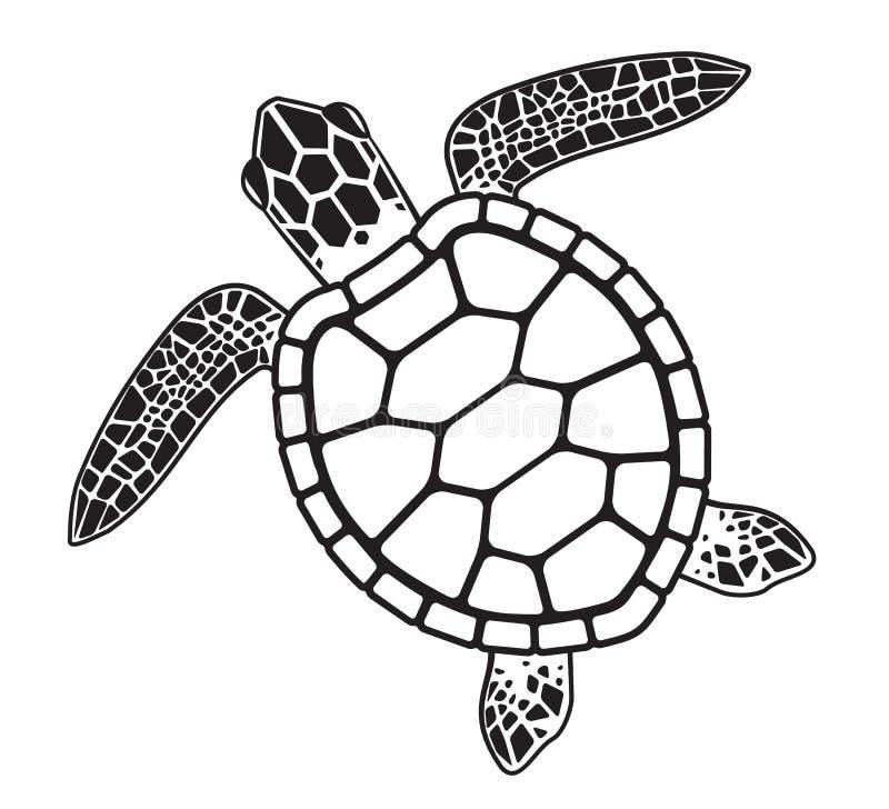 Wektorowej grafiki ilustracja Denny żółw royalty ilustracja