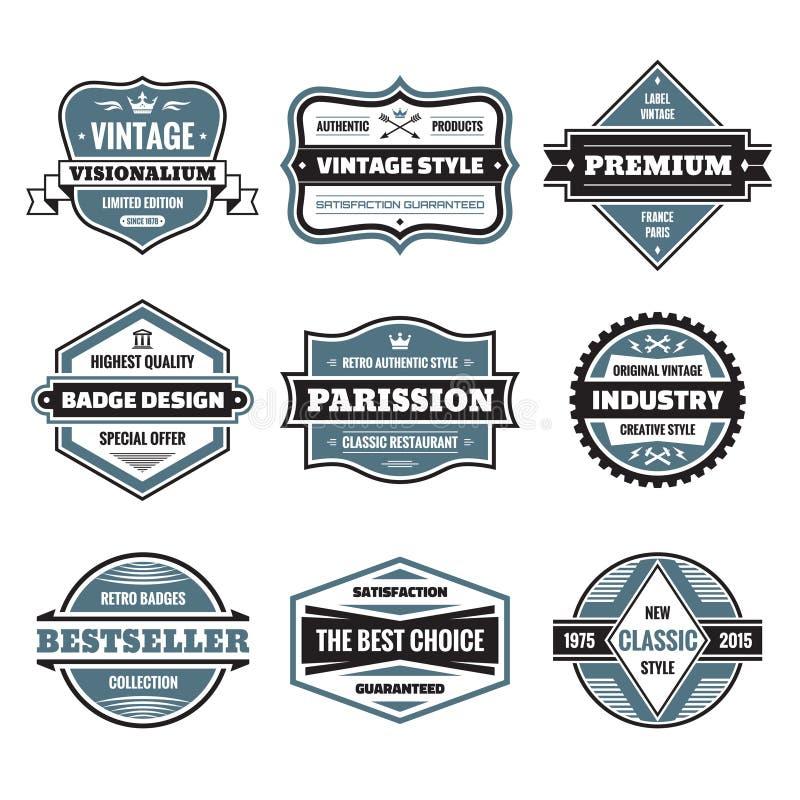 Wektorowej grafiki odznaki inkasowe Oryginalne rocznik odznaki