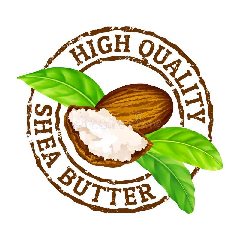 Wektorowej grunge pieczątki masłosza Wysokiej jakości masło na bielu ilustracja wektor
