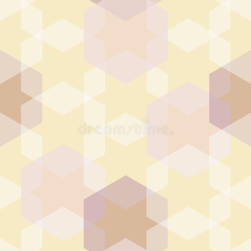 Wektorowej HoneyComb abstrakta gwiazdy Kwiecisty bezszwowy deseniowy t?o ilustracji