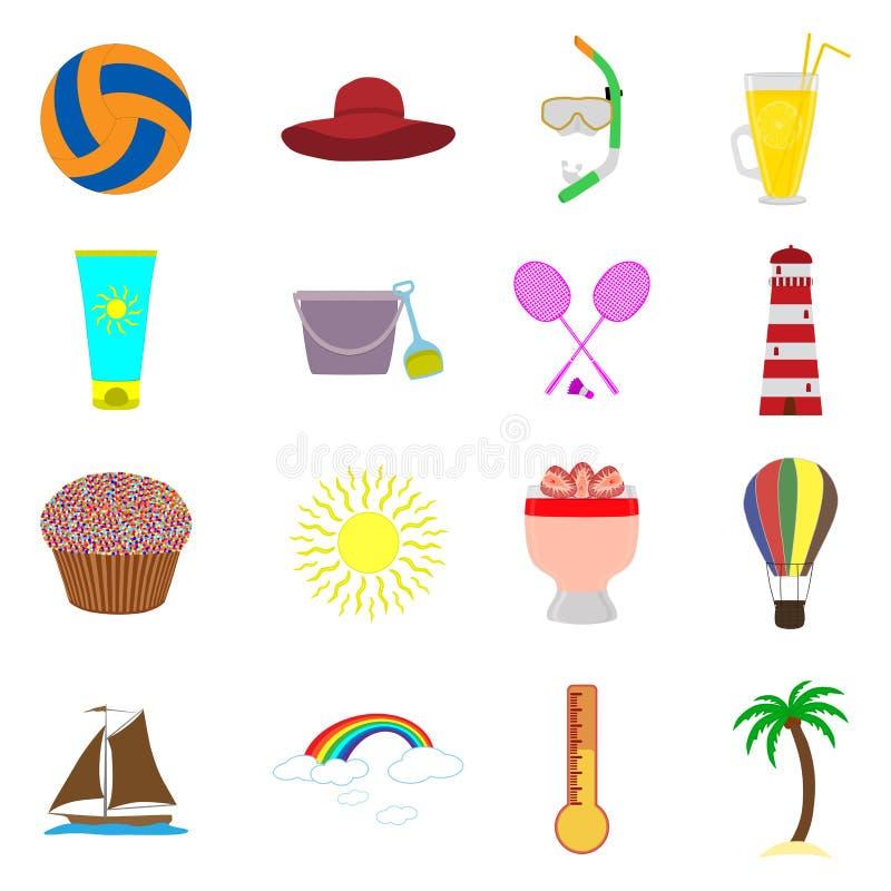 Wektorowej ikony ilustracyjny logo dla ustalonych symboli/lów na mieszkaniu barwił bu ilustracja wektor