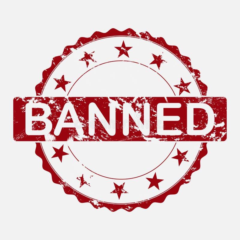 Wektorowej ikony round znaczek Starzejąca się grunge inskrypcja zakazująca ilustracja wektor