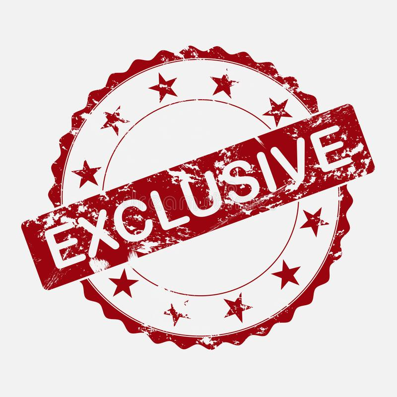 Wektorowej ikony round znaczek Starzejący się grunge inskrypci wyłączność na wywiad royalty ilustracja