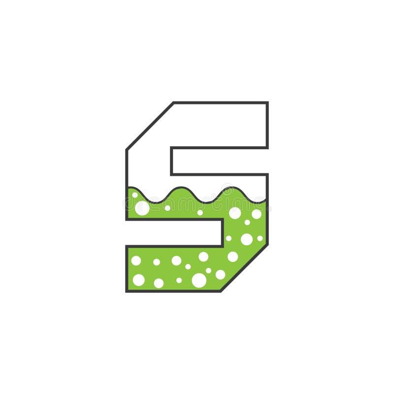 Wektorowej ilustracyjnej ikony listowego s nauki zielony kolor ilustracja wektor