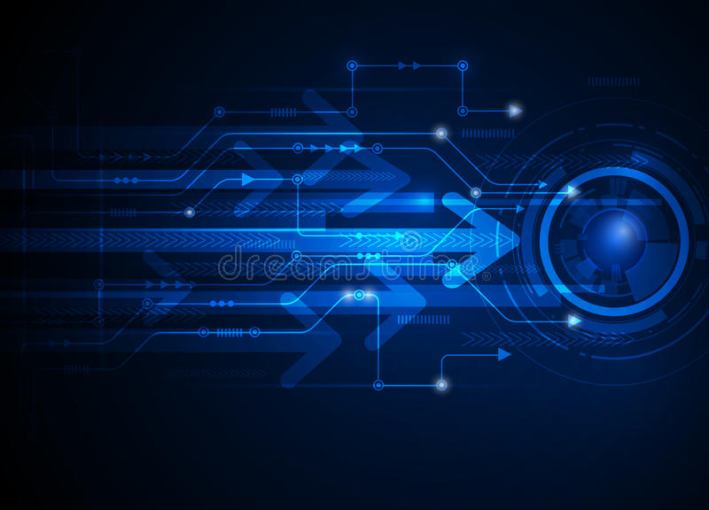 Wektorowej ilustracyjnej techniki technologii błękitny abstrakcjonistyczny tło
