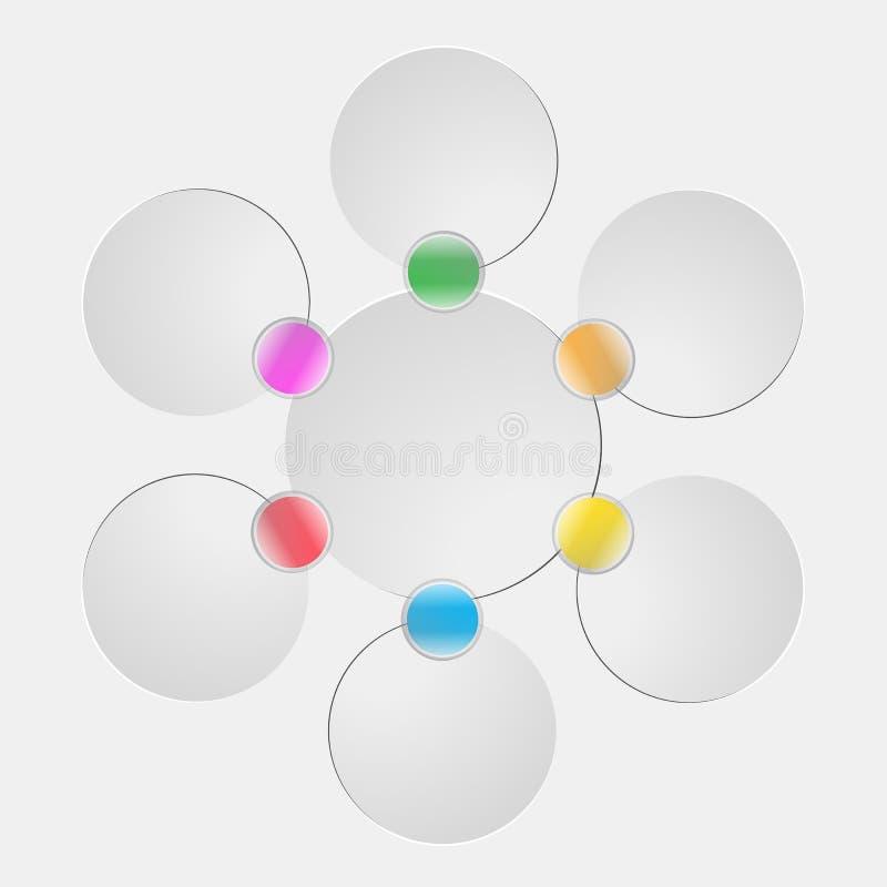 Wektorowej informaci grafika dla biznesowych prezentacj ilustracja wektor