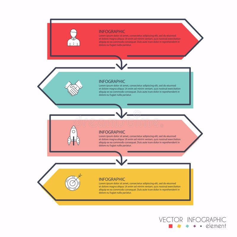 Wektorowej informaci grafika dla twój biznesowych prezentacj Może być use ilustracja wektor