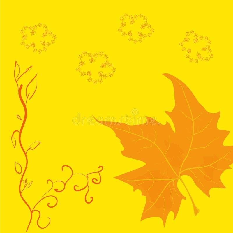 Wektorowej jesieni abstrakcjonistyczny kwiecisty ornament fotografia royalty free