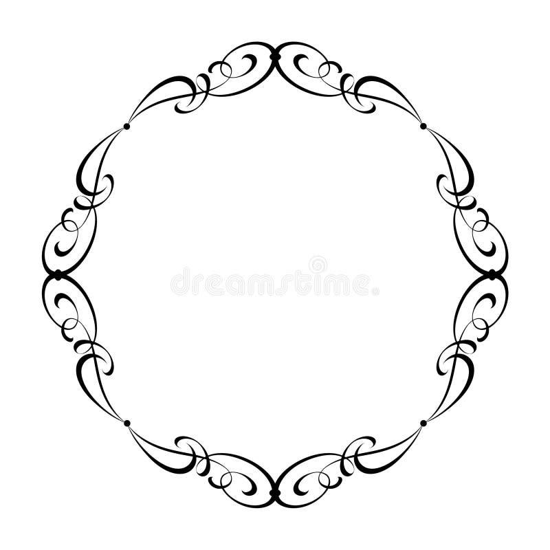 Wektorowej kaligrafii dekoracyjna rama również zwrócić corel ilustracji wektora czerń ilustracja wektor