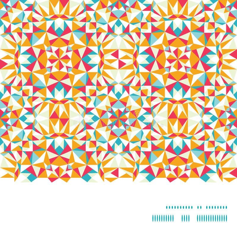 Wektorowej kolorowej trójbok tekstury horyzontalna rama ilustracja wektor