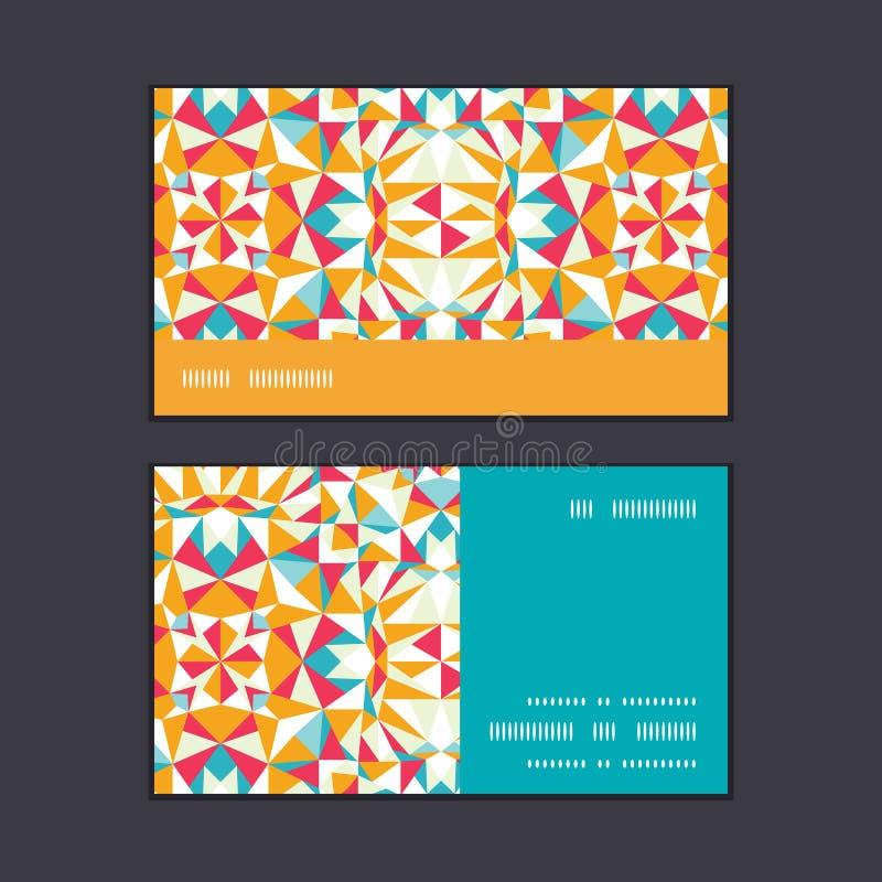 Wektorowej kolorowej trójbok tekstury horyzontalny lampas ilustracji