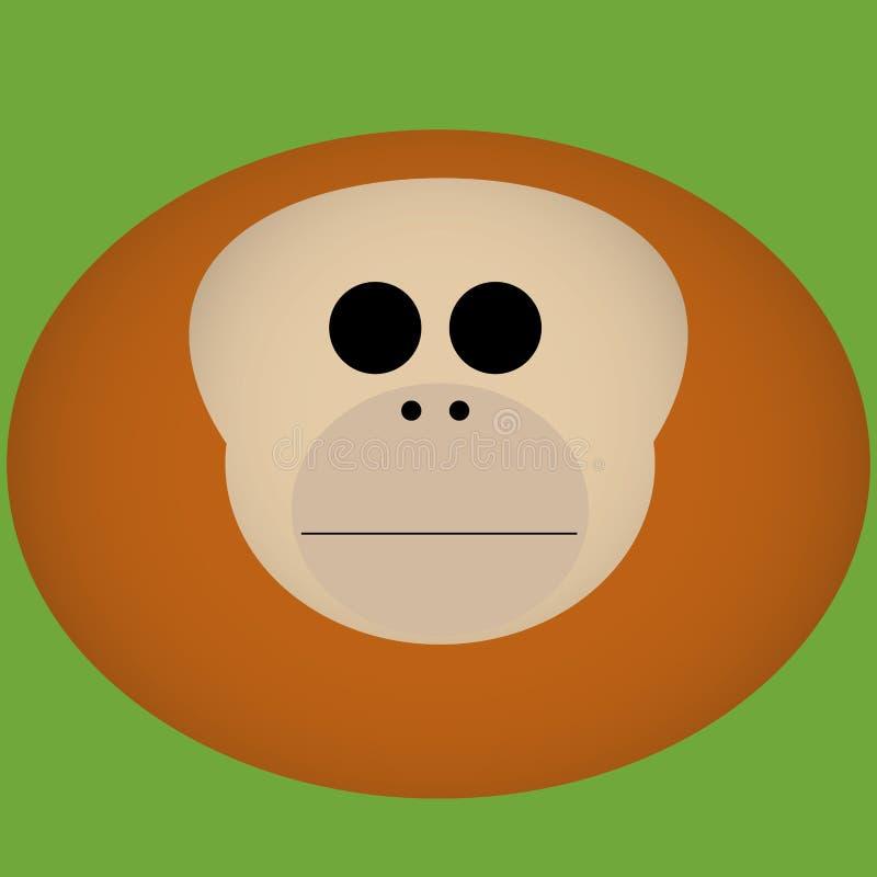 Wektorowej kreskówki Titi małpy twarzy Śliczna ikona Odizolowywająca ilustracja wektor