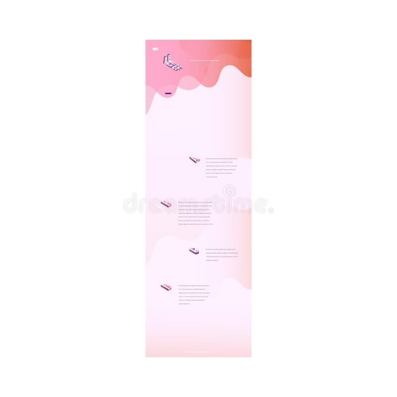 Wektorowej lądowanie strony modny wibrujący gradient ilustracja wektor