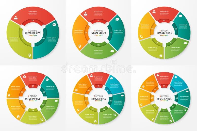 Wektorowej okrąg mapy infographic szablony dla prezentacj, adv ilustracja wektor