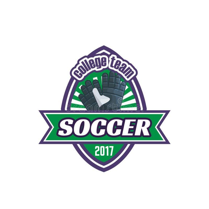 Wektorowej piłki nożnej szkoły wyższa drużyny futbolowa balowa ikona ilustracji