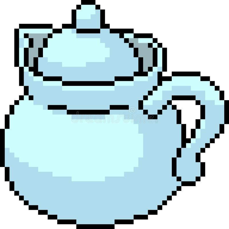 Wektorowej piksel sztuki herbaciany słój ilustracji