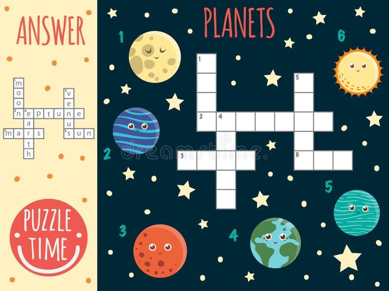Wektorowej przestrzeni crossword ilustracji