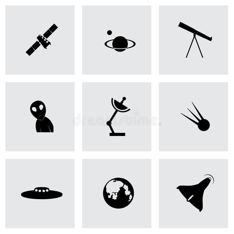 Wektorowej przestrzeni ikony set ilustracja wektor
