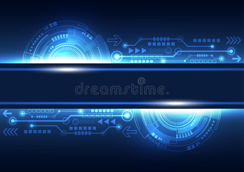 Wektorowej przyszłościowej sieci telekomunikacyjna technologia, abstrakcjonistyczny tło ilustracji