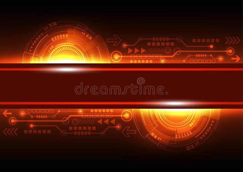 Wektorowej przyszłościowej sieci telekomunikacyjna technologia, abstrakcjonistyczny tło royalty ilustracja
