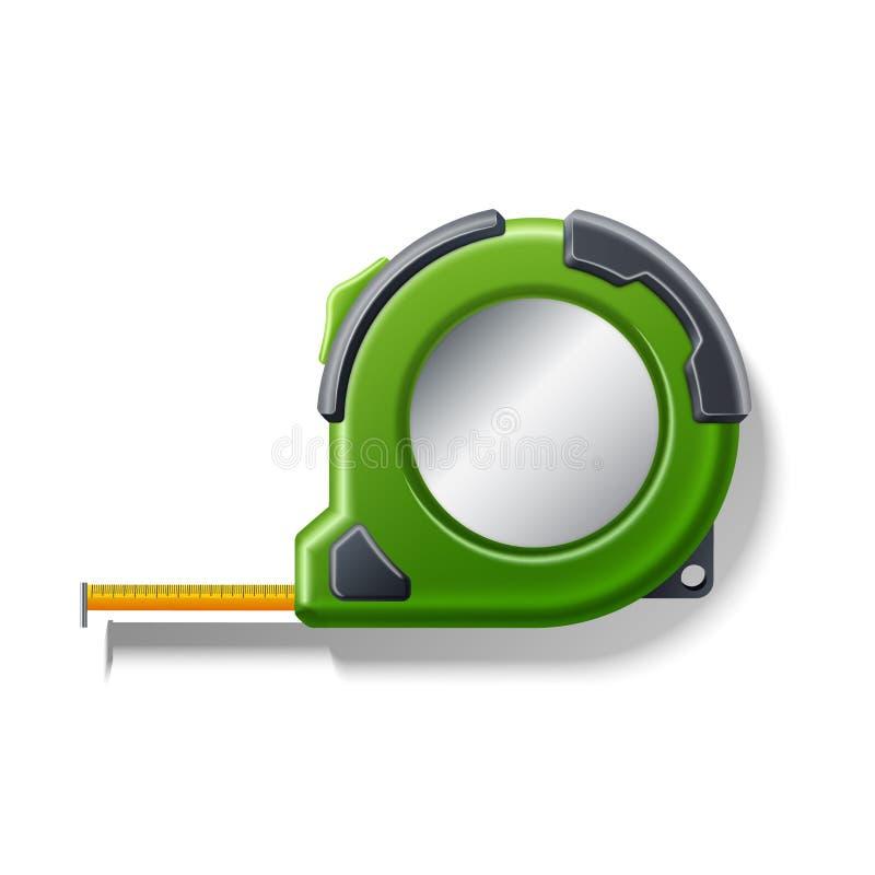 Wektorowej realistycznej pomiarowej taśmy ruletowa 3d ikona ilustracja wektor
