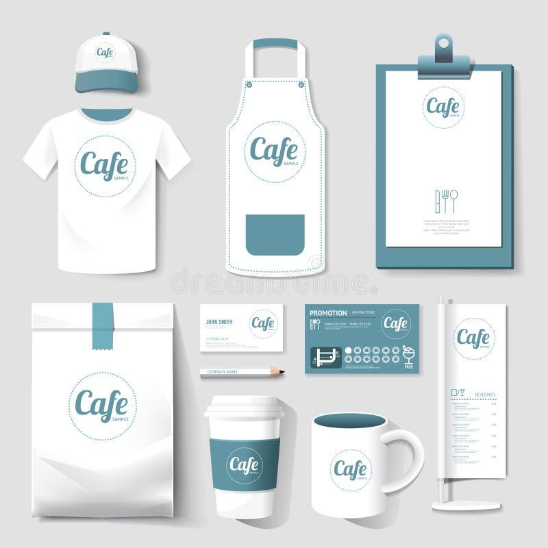 Wektorowej restauracyjnej kawiarni ustalona ulotka, menu, pakunek royalty ilustracja